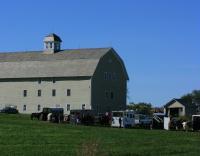 The barn hosts a weekend Fox Hunt.