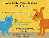 ''PAWS-itively Unique'' Boutique Thrift Store