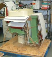 specialty shipping - barber chair and sink on pallet, freight
