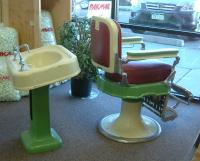 specialty shipping - barber chair and sink
