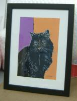 artwork shipping - framed serigraph with glass