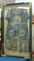 estate shipping - chinese wedding gown in shadow box