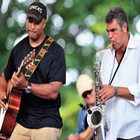 Bernie Williams and Mark Rivera at The Small Town Theatre Company's Outdoor Summer Concert