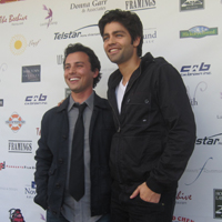 Adrian Granier and Evan Ferrante at The Small Town Film Festival in Armonk