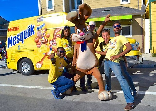 Nesquik Team love our Saturday morning Parade!