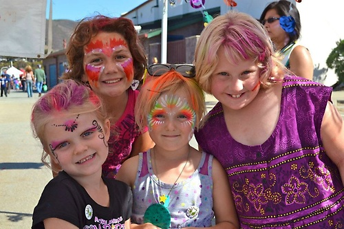 Lots of Face Painting at the Family Fun Fest