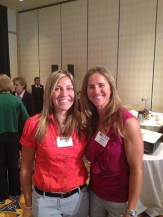 Charity event with Brandi Chastain