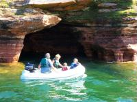 Sea caves with dinghy