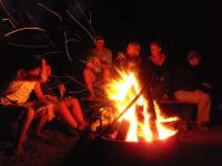 Camp fire @ Rocky Island fire pit