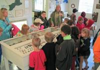 Students tour the original museum