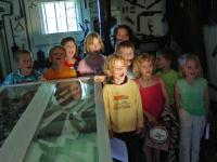 School kids wowed by the Fresnel light house lens