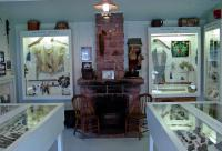 Ojibwe and fur trade exhibits in the original museum
