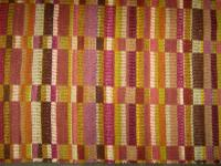 Eight Harness Block Wool Rug