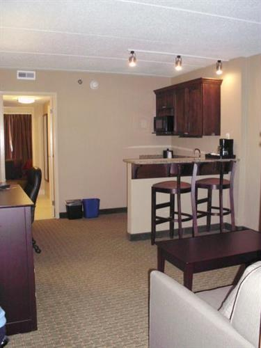 Enjoy a suite with a living room and bed room