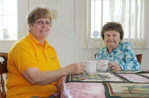 Sometimes we just visit & enjoy a cup of tea together