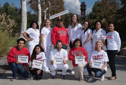 PALOMAR COLLEGE GIVING TUESDAY STUDENT THANK YOU