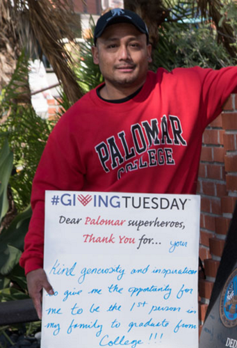 PALOMAR COLLEGE STUDENT GIVING TUESDAY THANK YOU P2