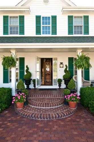 Add charm to your home with a brick entryway