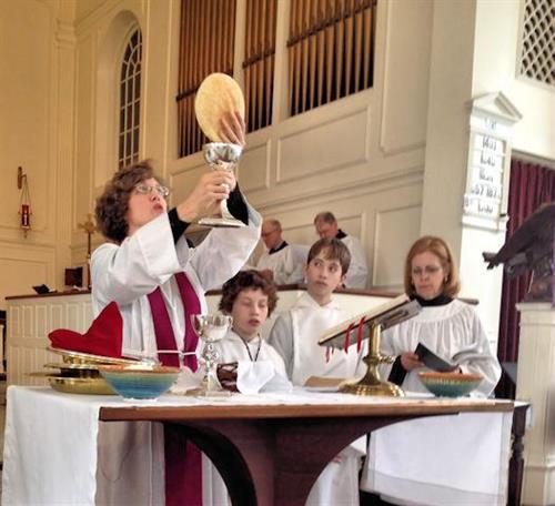 Eucharist.- Rev. Martha Hubbard
