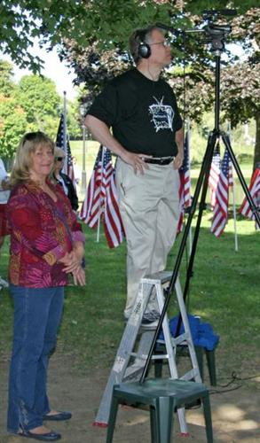 Members Jay and Paula at Field of Honor Ceremony