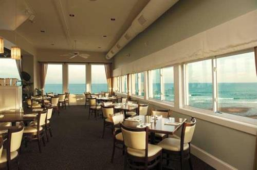 Tables have panoramic ocean views.