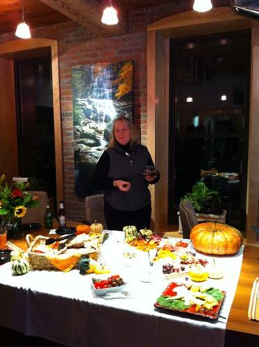 Heather Klein sampled the festive spread and beverages prepared by Carry Out Cafe.