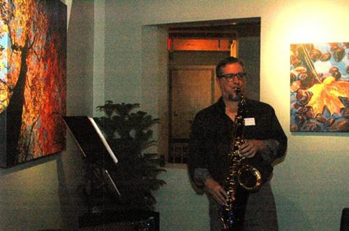 EJ Smooth set the mood with his sax stylings.