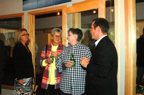 Kate Higgins was introduced to our upstairs neighbors Laurel Seneca and Brenda LeClerc.