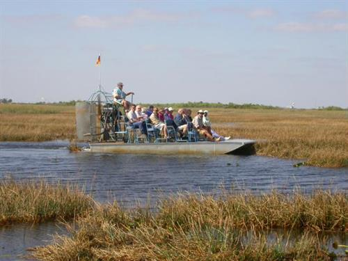 Airboat ride on the sawgrass prairie