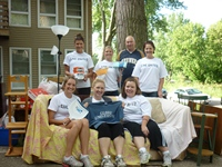 Staff participate in United Way Housing First Challenge