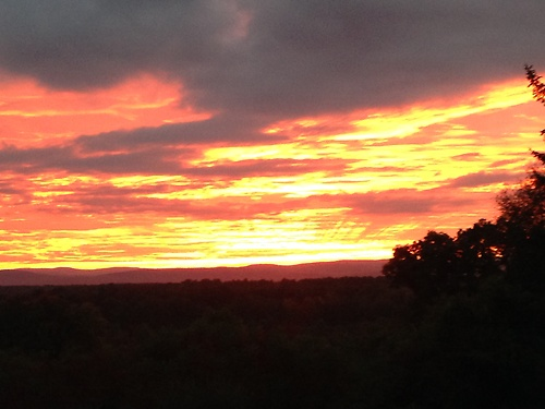 Beautiful views from my home in North Amherst