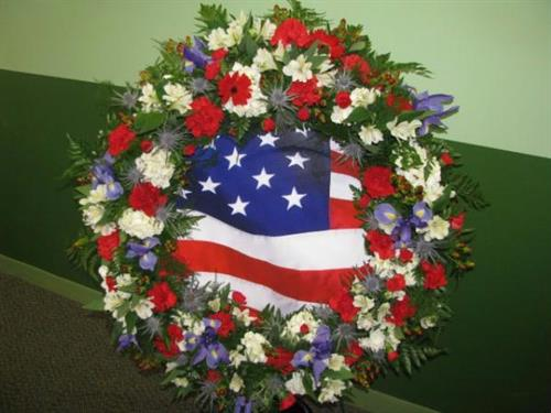 Wreath for the 9/11 Memorial Wreath Laying Ceremony at the Burke Centre Festival.