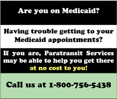Paratransit Services is the contact point for Medicaid transportation in the Kitsap and the Olympic Peninsula.