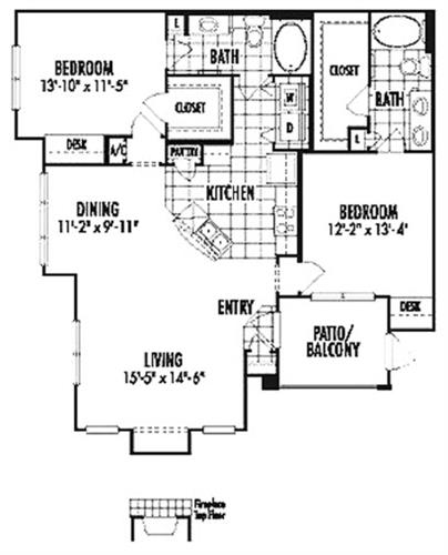 Saphire two bedroom two bath