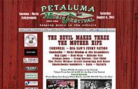 Design, Promotion and Hosting for PetalumaMusicFestival.org