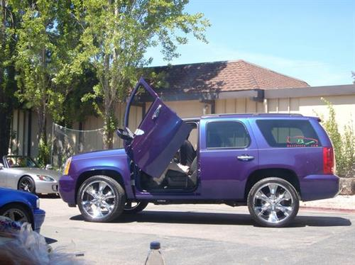 Customized Suburban - Lambo doors