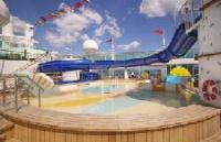 Waterpark on a cruise ship.