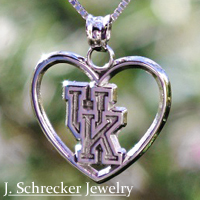 We offer a wide selection of solid sterling silver charms and beads compatible with your classic charm bracelet or pandora-style bead bracelet. These include officially licensed beads and charms for your favorite college teams, and University of Kentucky, University of Louisville, Western Kentucky University, and Murray State University items are always in stock.