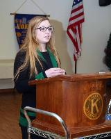 2013 Linden kiwanis Scholarship recipient Tori Rillet