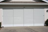Garage Door Slider with White Privacy Screen