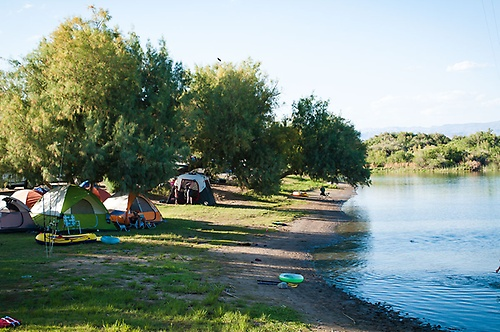 Campsites right on the water