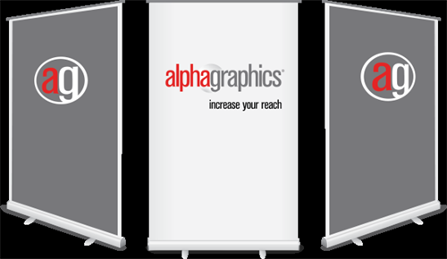 Retractable banner stands from AlphaGraphics Chicago produce results!