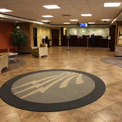 Carroll EMC's Carrollton office lobby
