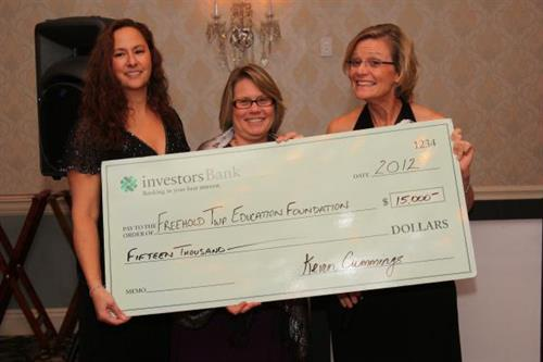 Check presentation to the Freehold Twp Education Foundation