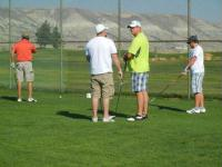 Golfers at Mutt Putt 2012