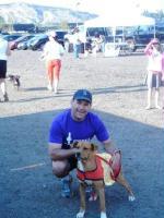 Travis Samulski with Nova - Humane Society dog