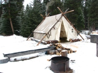 the camp where we serve the meal or dinner