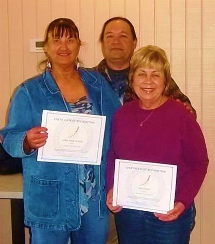 Little Deer & Dixie Flynn receive Certificates of Appreciation from CCCC, Bakersfield.