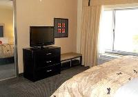 In-room flat-screen televisions and MP3 jac