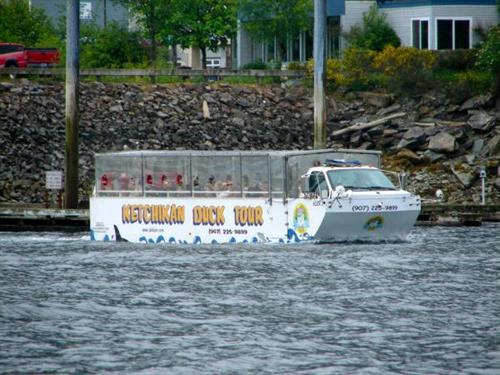 One of our Duck Tour boats in the water